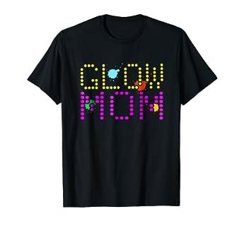 Amazon com: Glow Mom Paint Splatter Neon Glowing Effect Party T