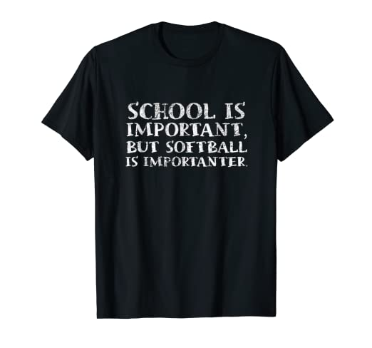 7df0a1ce Image Unavailable. Image not available for. Color: Softball Is Importanter Funny  Softball Sports Quote T Shirt