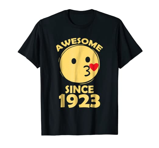 995ed77f59d07 Amazon.com: 95th Birthday Years Old Funny 1923 love Emoji t shirts ...