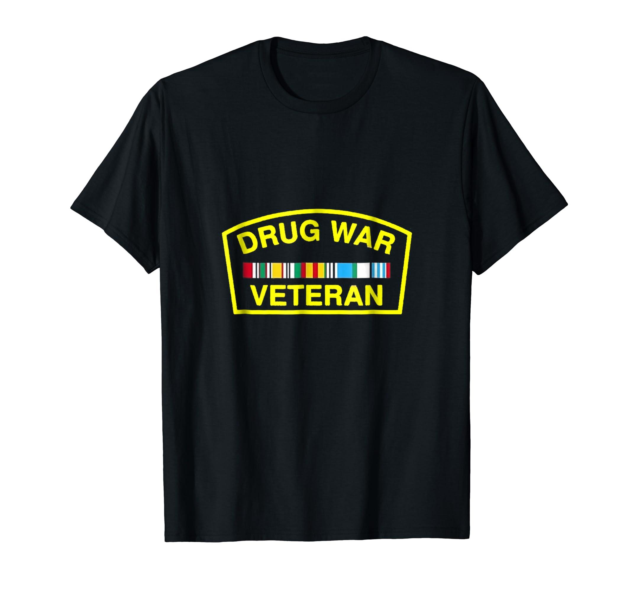 Amazon.com  Drug War Veteran T-Shirt  Clothing f8ec3baceac0