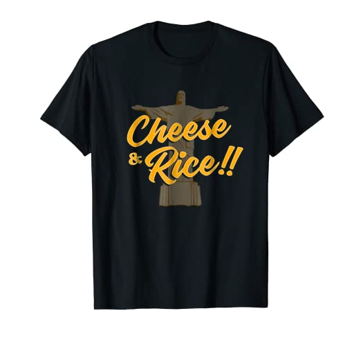 Amazoncom Cheese And Rice Shirt Funny Jesus Meme Tshirt Gift Idea