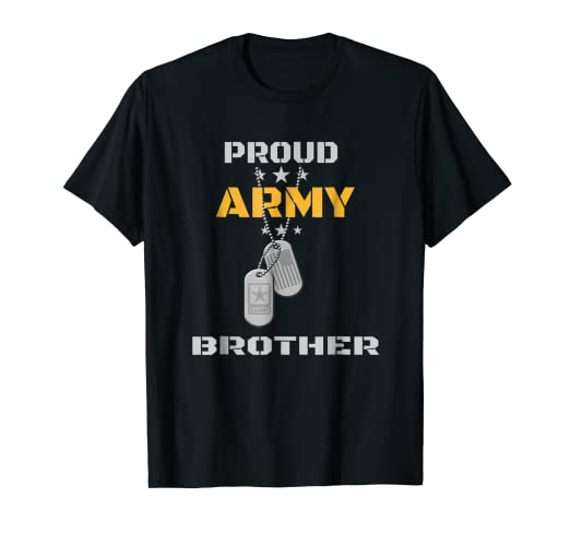 655fa854 Image Unavailable. Image not available for. Color: Proud Army Brother Shirt  US Military Family Gift T-Shirt