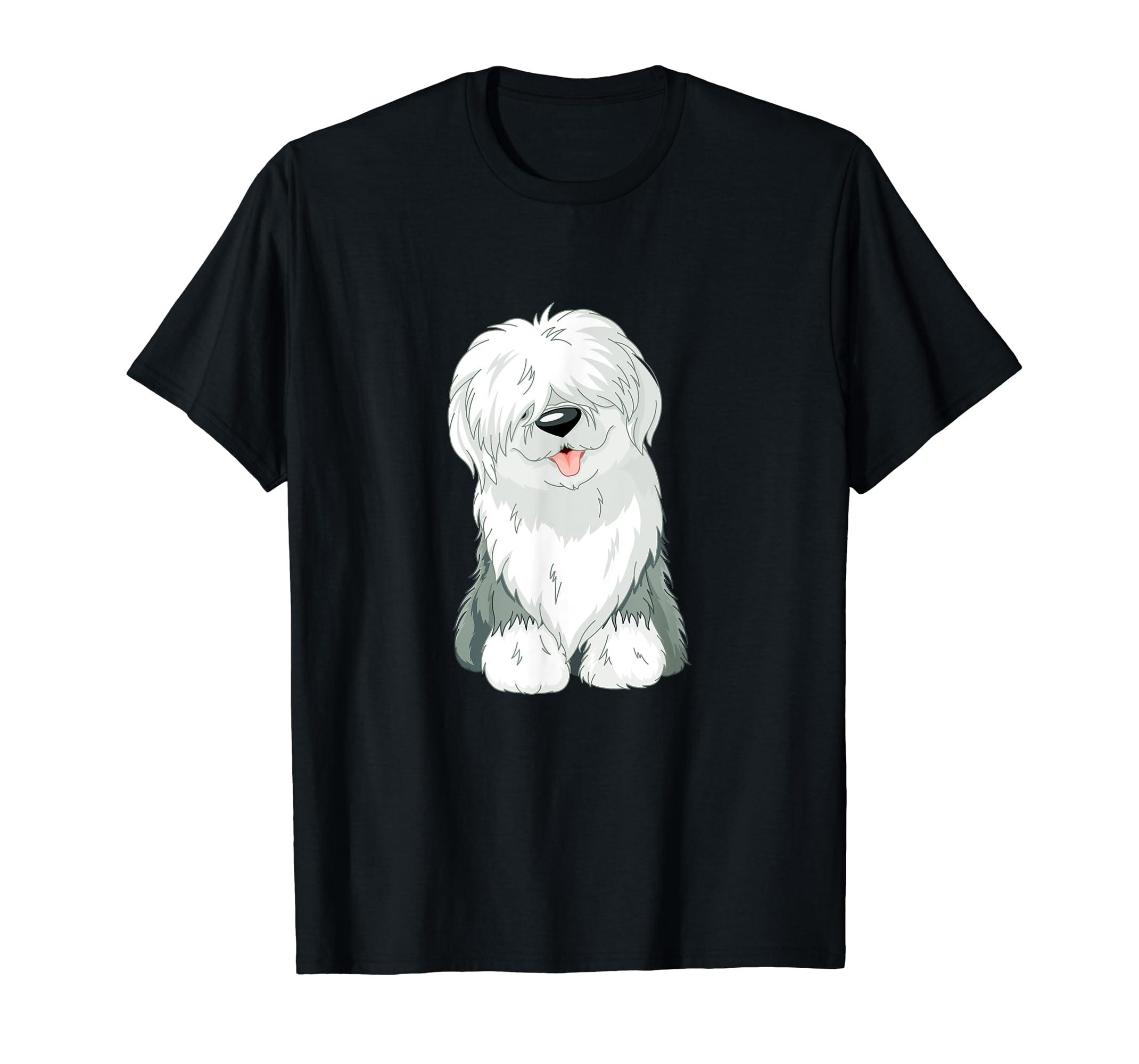 Original Old English Sheepdog Puppy T-Shirt-Men's T-Shirt-Black