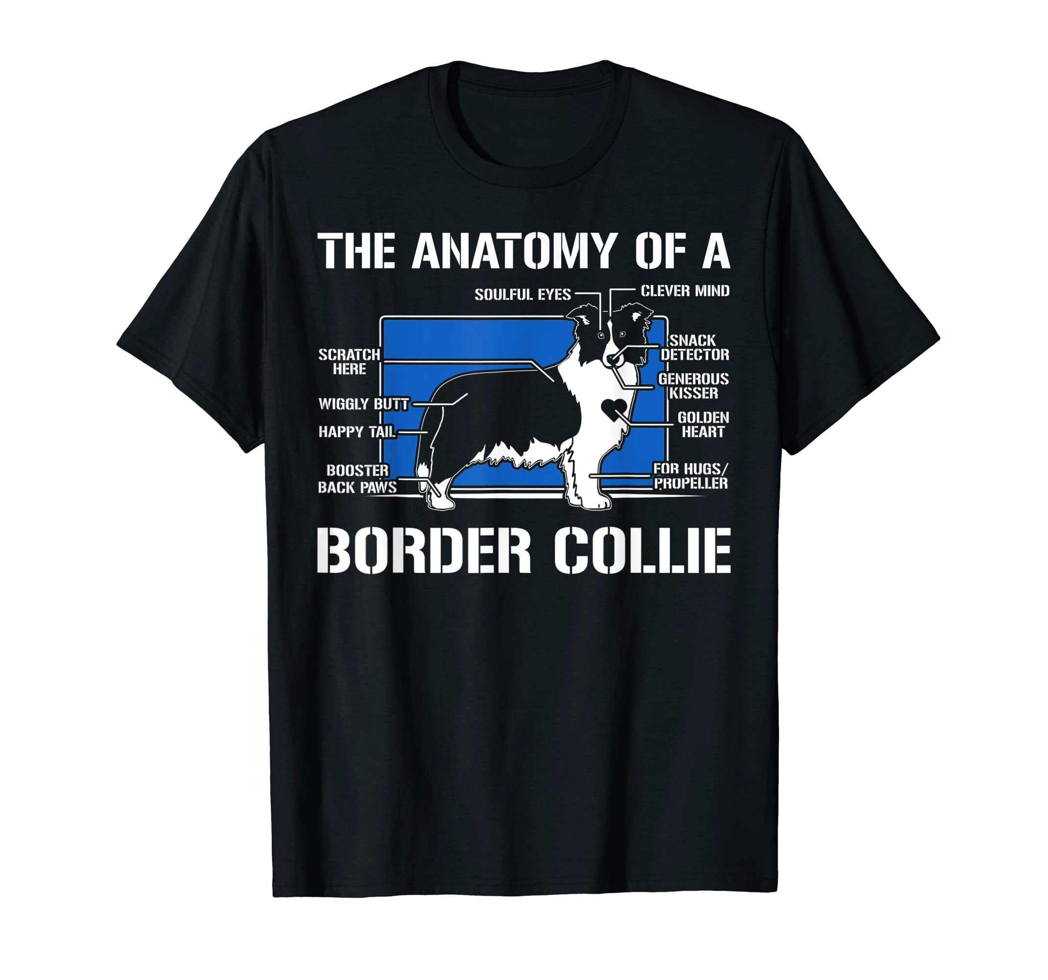 The Anatomy Of A Border Collie T shirt-Men's T-Shirt-Black