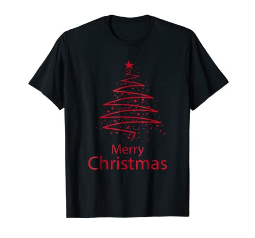 Amazon.com: Merry Christmas Cool Graphic Design Christmas Tree ...