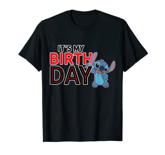 Image Unavailable Not Available For Color Disney Lilo And Stitch Happy Birthday T Shirt