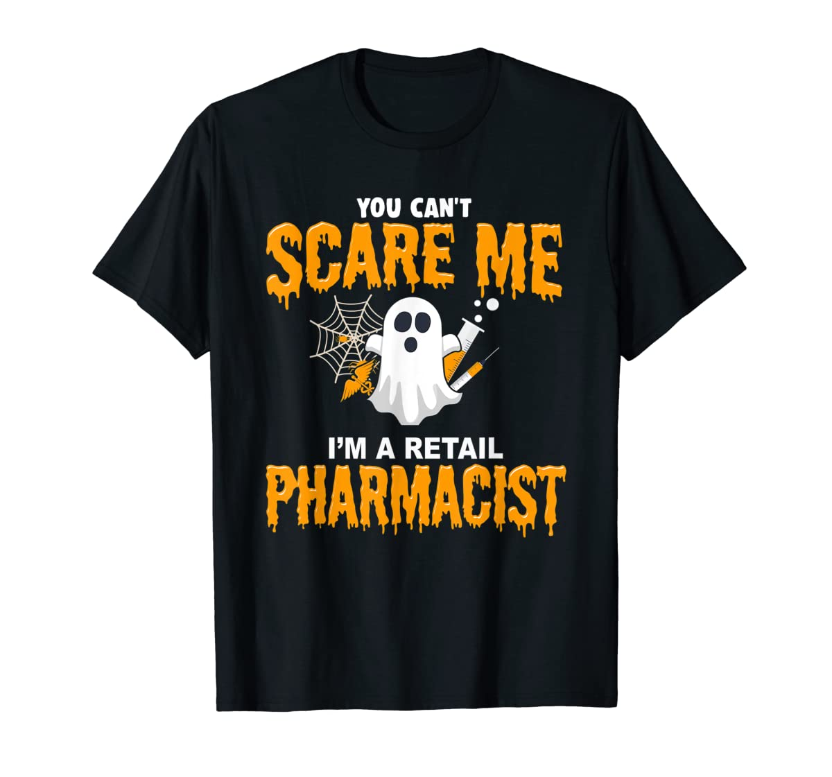 Halloween Costume Shirt I'm A Retail Pharmacist T-Shirt-Men's T-Shirt-Black