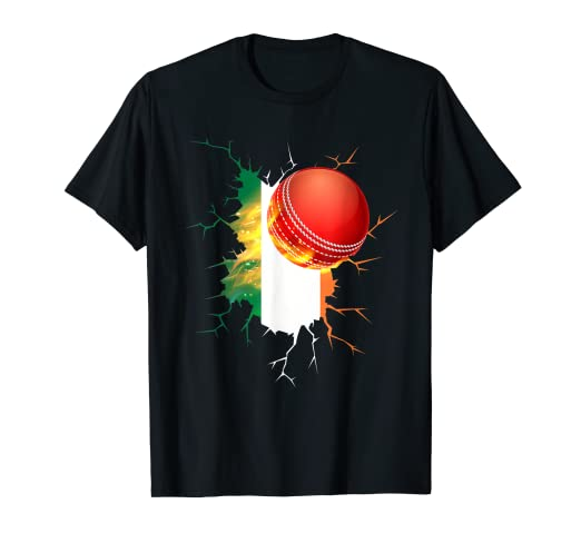 1ece31bde88 Image Unavailable. Image not available for. Color: Ireland Cricket T-Shirt  : Irish 2019 National Fans Jersey