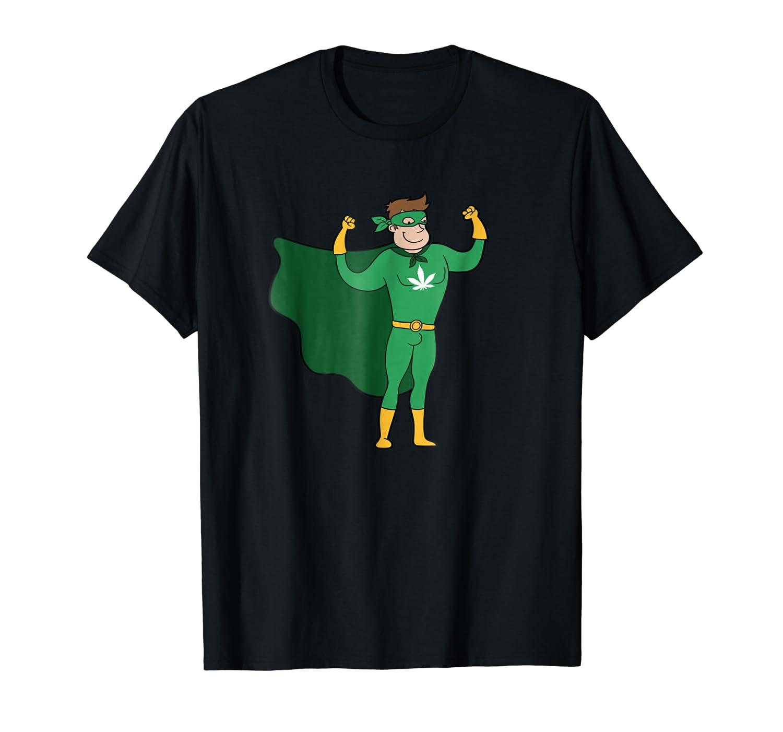 Superhero Weed Man Halloween Costume Marijuana T-shirt