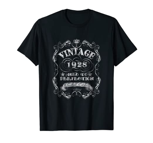 Image Unavailable Not Available For Color Vintage 1928 T Shirt 90th Years Old 90 Birthday Gift Tee