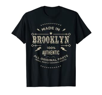 d29c7e1dd Image Unavailable. Image not available for. Color: Made In Brooklyn Is My  Home T Shirt ...