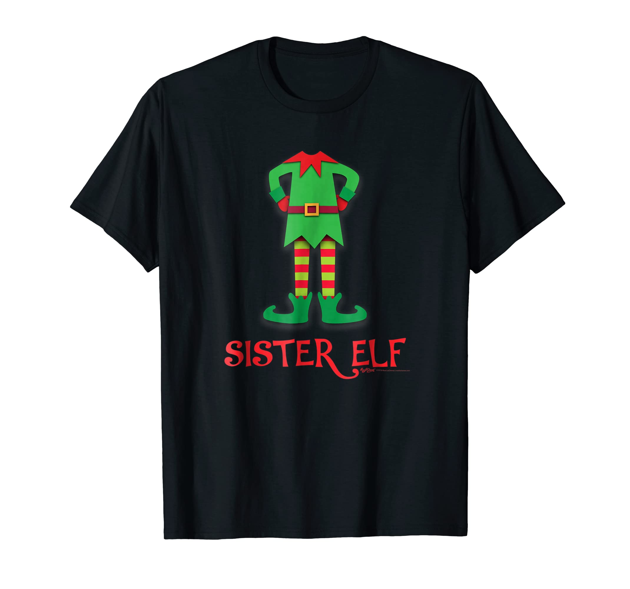 Sister Elf Costume Funny Christmas T Shirt-SFL