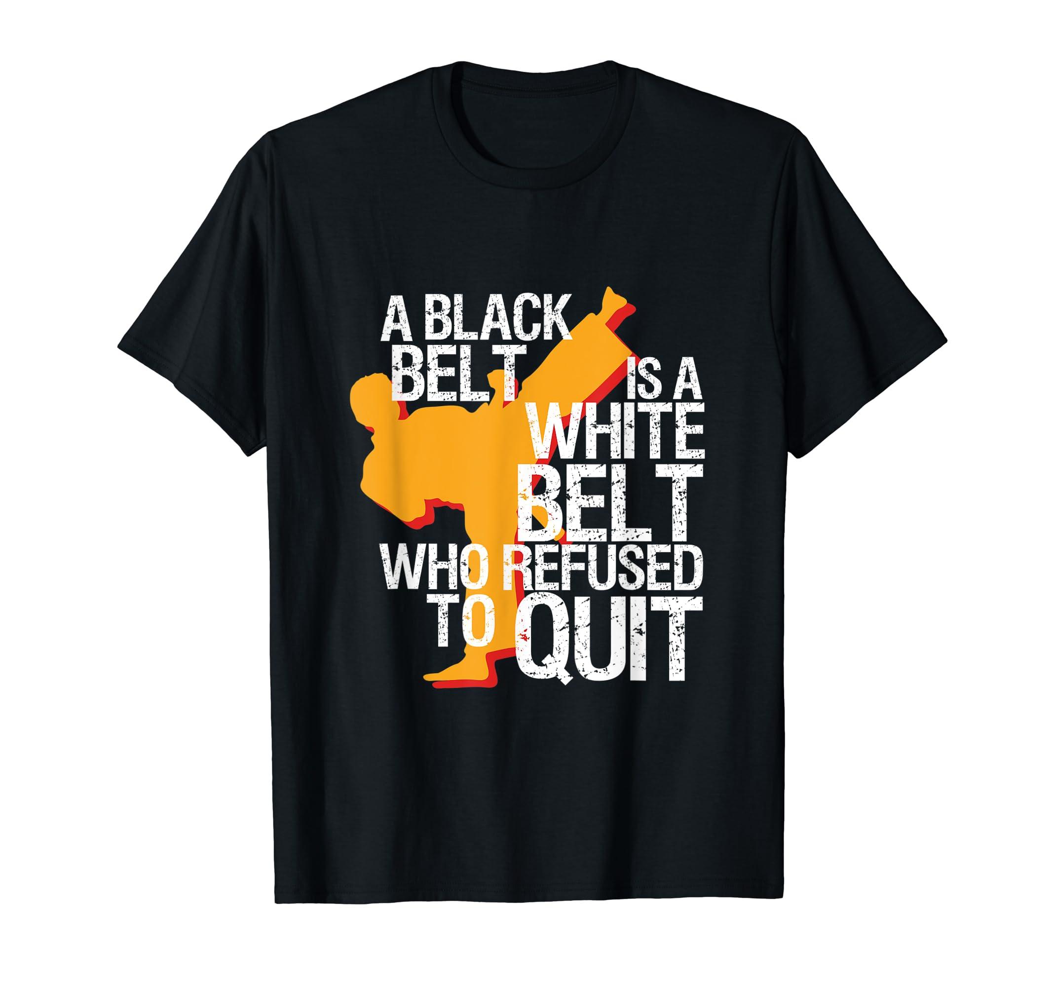 Taekwondo and Karate Black Belt Martial Art Student T-shirt-Men's T-Shirt-Black