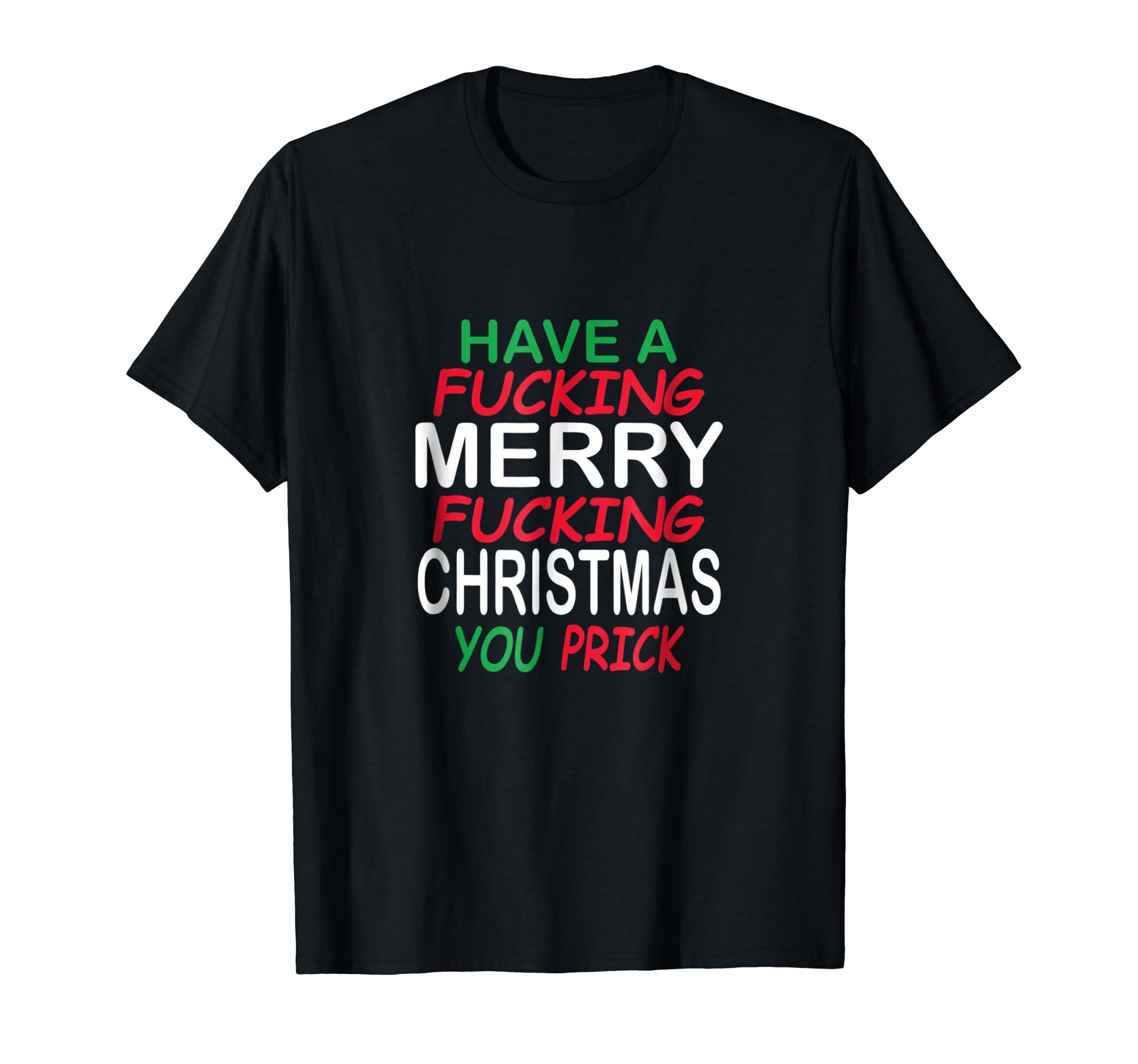 933586abc Amazon.com: Fucking Merry Christmas Funny Dirty Adult Joke TShirt: Clothing