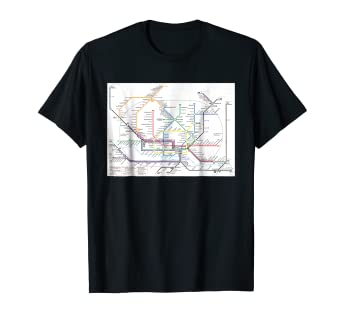 Hamburg Subway Map.Amazon Com Hamburg Subway Map Germany T Shirt Clothing