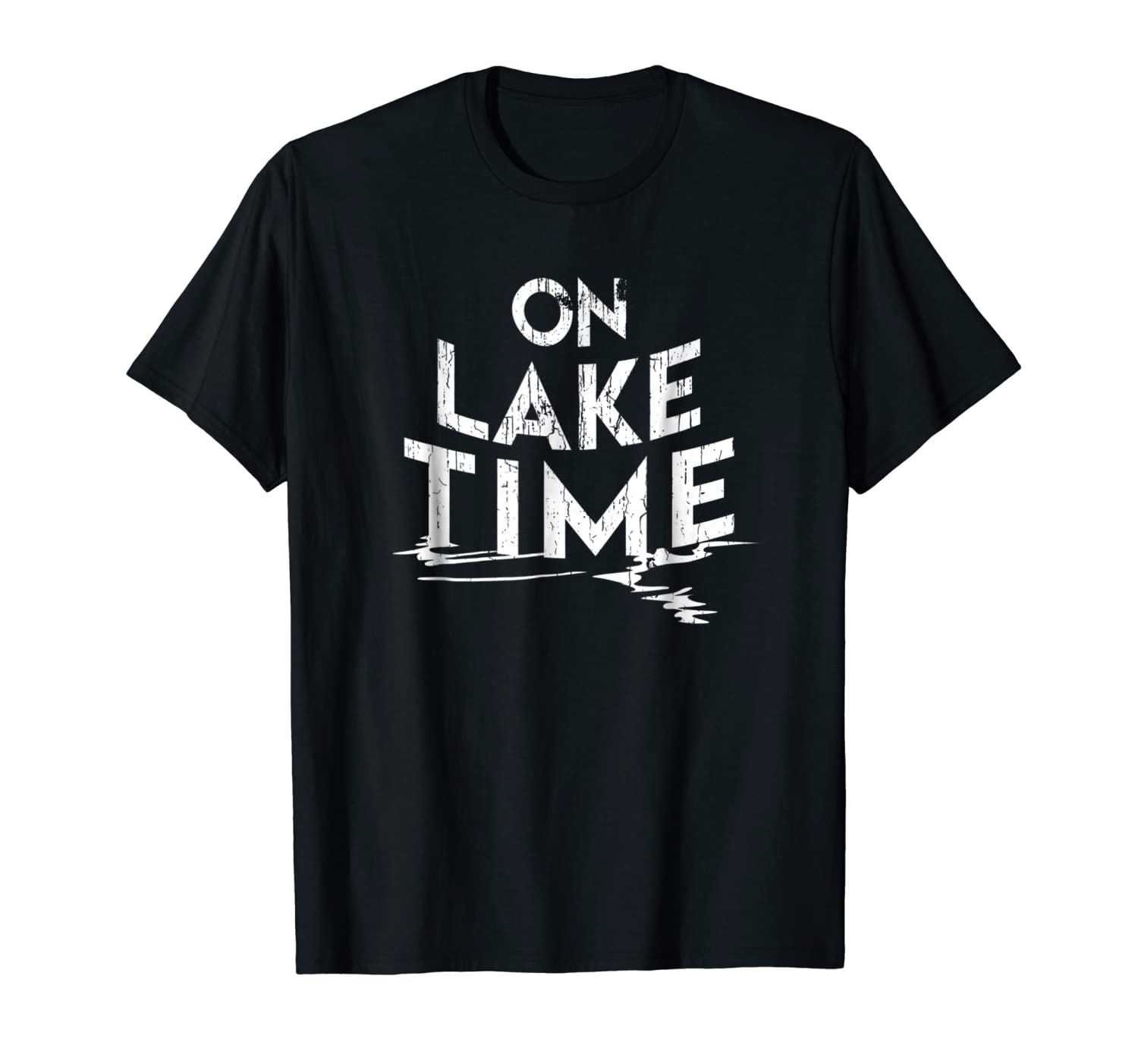 fca78dab5 Amazon.com: On Lake Time - Funny Summer Boating and Fishing T-Shirt:  Clothing