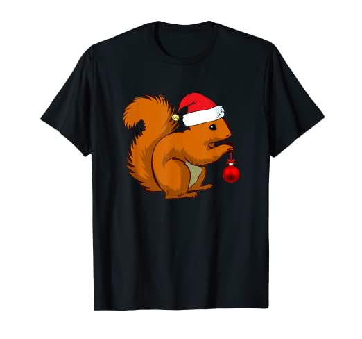 5c7614a94 Image Unavailable. Image not available for. Color: Funny Squirrel Christmas  T-Shirt ...