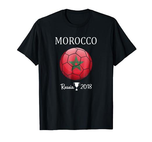 new arrival 443a1 fac70 Amazon.com: Morocco Soccer Football Team 2018 Moroccan ...