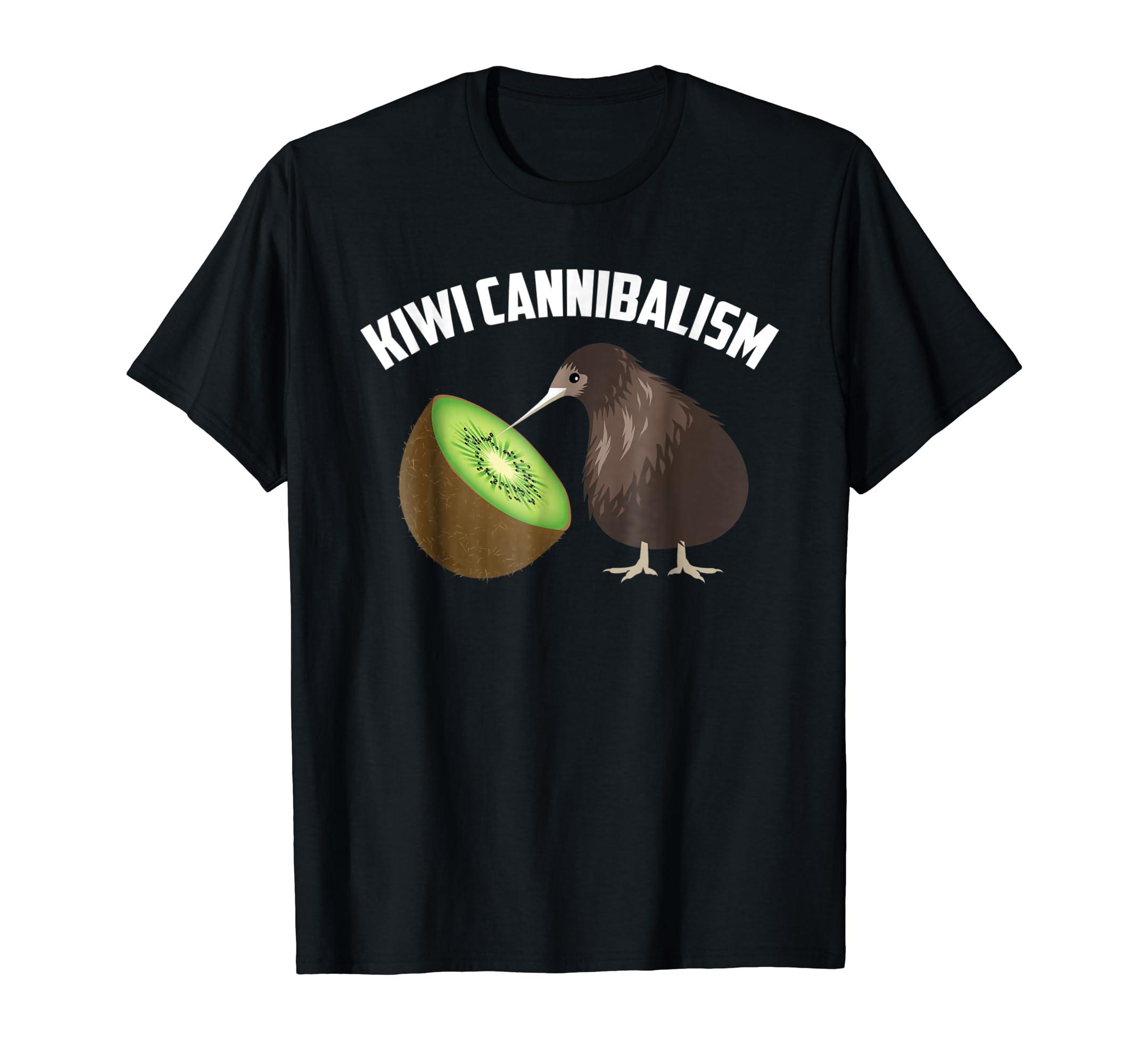 Amazon.com  Kiwi Cannibalism Shirt   Cute Cannibalistic Bird Tee Gift   Clothing f16a13cbfab