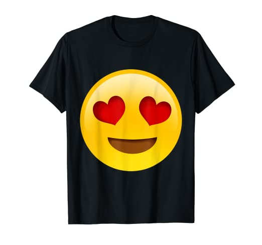 8f2452755 Amazon.com: Emoji Smiling Face With Heart-Shaped Eyes Cute Funny ...