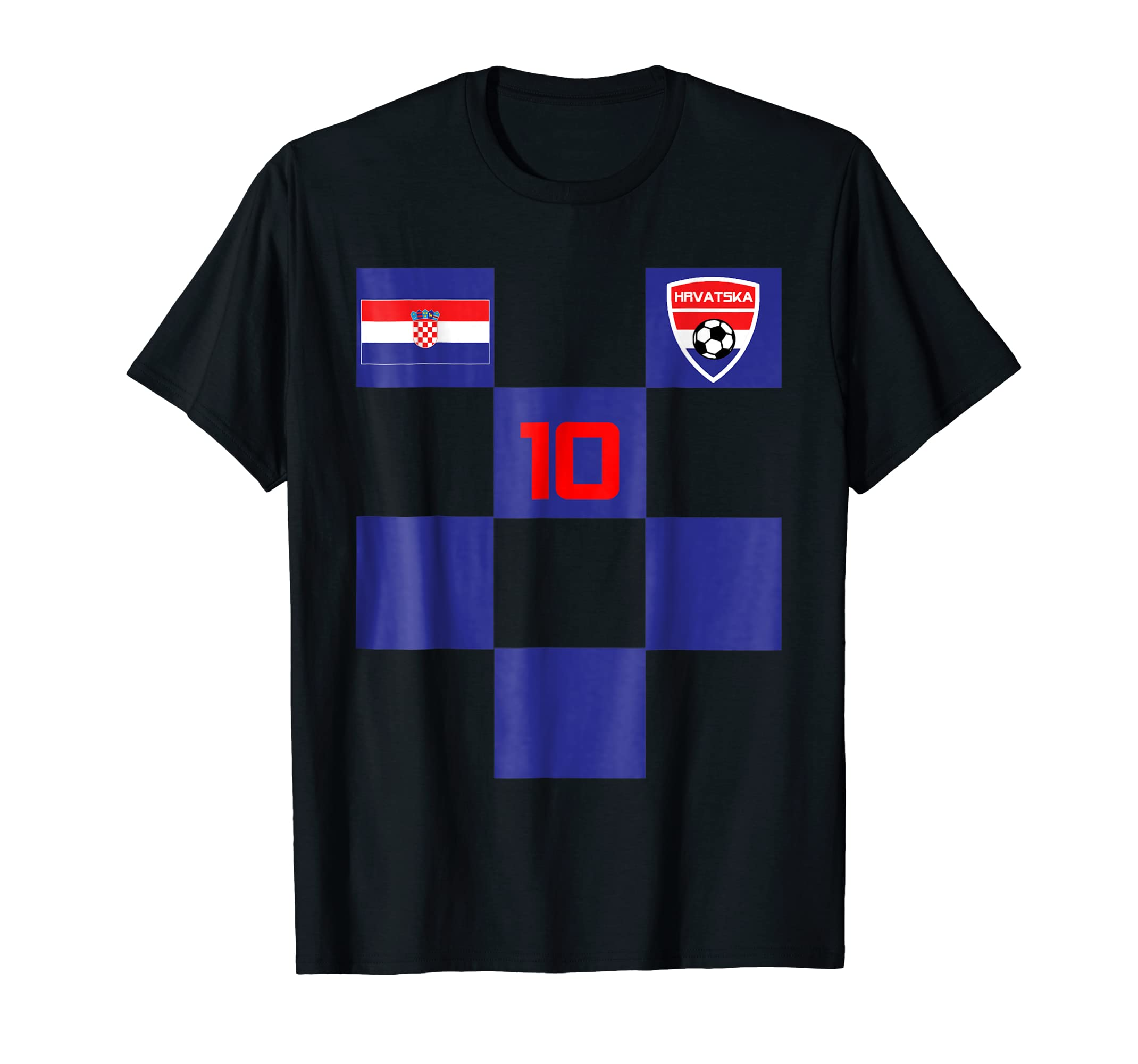 Croatia Soccer Jersey Shirt Black Blue Men Women Kids Sizes- TPT