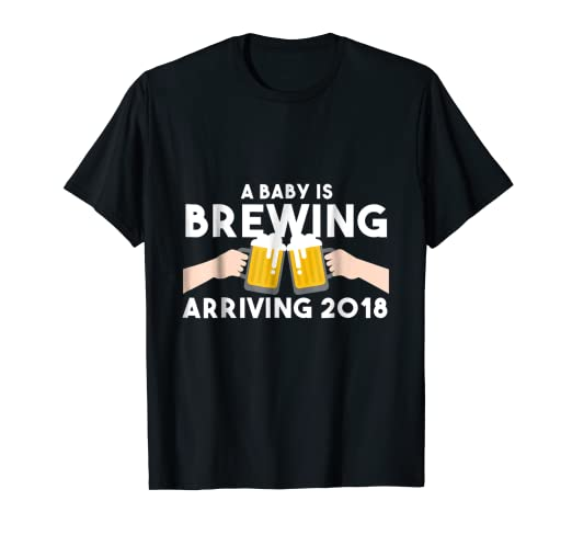 9d3a9996fb Image Unavailable. Image not available for. Color: Baby Is Brewing Shirt  Funny Beer Shirts For Men Adult Humor