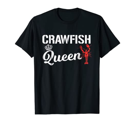 2507003a82 Image Unavailable. Image not available for. Color: Crawfish T Shirt  Crawfish Queen Cajun Boil Funny Gift Shirt
