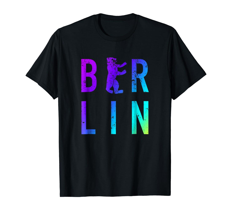 Berlin Germany City Bear Colorful Souvenir T Shirt
