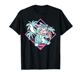 Image result for Disney Lilo & Stitch Ice Cream Retro 90s Beach T-Shirt