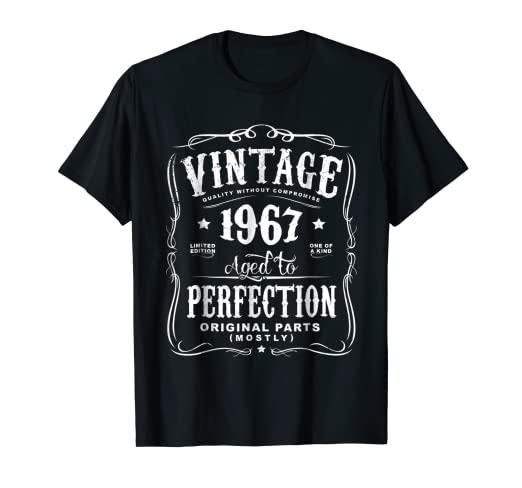 41ee68767 Image Unavailable. Image not available for. Color: Vintage Made In 1967 T-Shirt  51st Birthday Gift