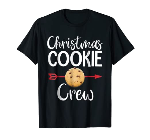 christmas cookie crew cute christmas baking shirt gift
