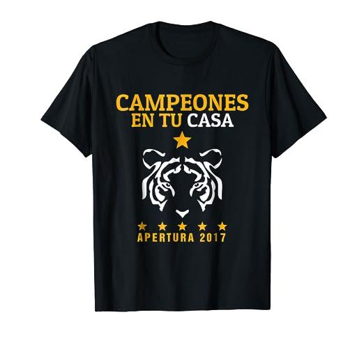 294d82c58a3ce Amazon.com  Tigres UANL Campeones en tu Casa - Jersey T Shirt ...