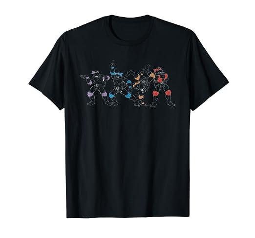 Amazon.com: Teenage Mutant Ninja Turtles Outline Group ...