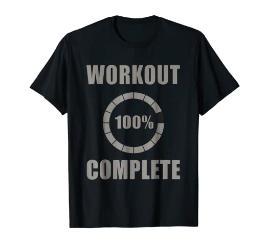 88025342 Image Unavailable. Image not available for. Color: Workout Complete 100% Sweat  Activated tshirt for Men Women