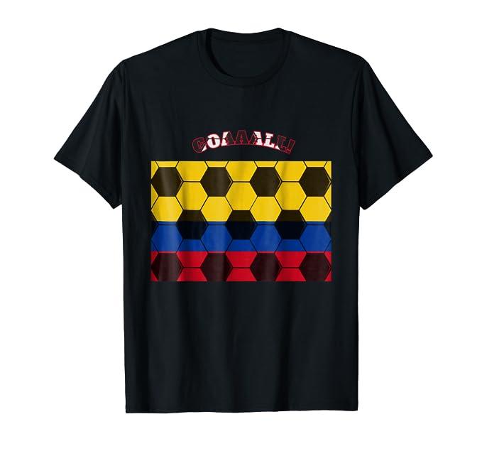 Goal Colombian Flag National Team soccer ball Tee Shirt