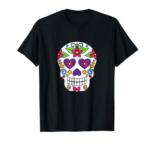 8078a5f12 Image Unavailable. Image not available for. Color: Day of the Dead Sugar  Skull T Shirt ...