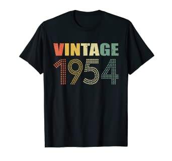 Image Unavailable Not Available For Color Retro Vintage 1954 T Shirt 65th Birthday Gifts 65 Years Old