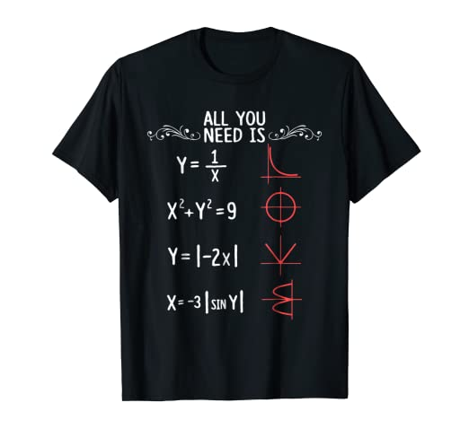 b3dd2267 Image Unavailable. Image not available for. Color: All You Need Is Love  Math T shirt