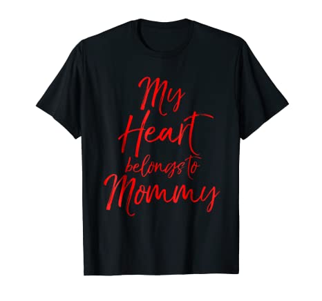 516331f7 Image Unavailable. Image not available for. Color: My Heart Belongs to Mommy  Shirt ...