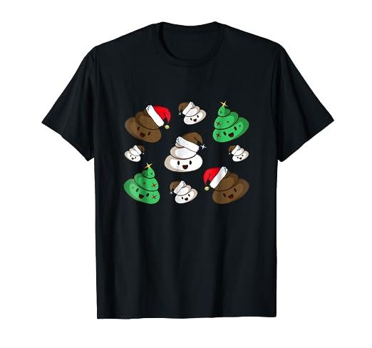 Amazon Com Poop Emoji Set For Christmas T Shirt Funny Gift