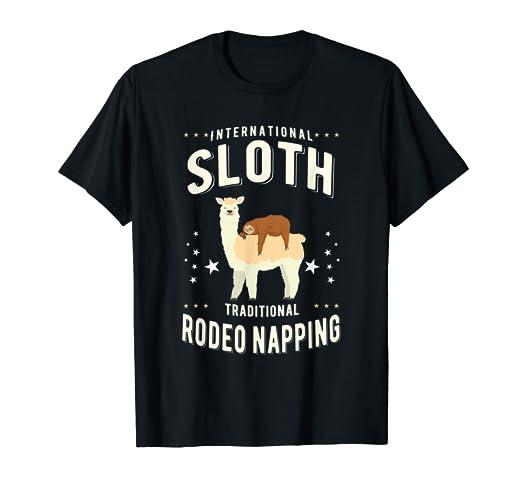Amazon com: Sloth Llama Rodeo Napping Shirt Sleep Sleeping
