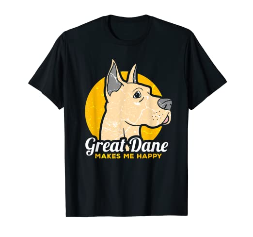 fb6a2c83 Image Unavailable. Image not available for. Color: Great Dane Makes Me  Happy Shirt ...