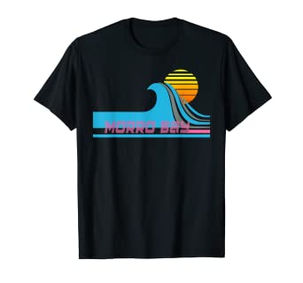Amazon Com Morro Bay T Shirt California Surfing Tee Shirt Clothing