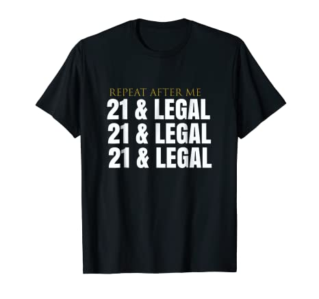 Amazon Mens COOL 21 LEGAL 21st Birthday Party Shirt Outfit