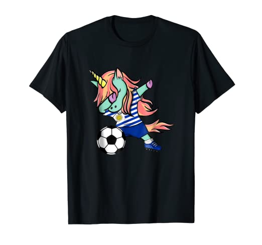 Image Unavailable. Image not available for. Color  Dabbing Unicorn Soccer  Uruguay Jersey Shirt 2018 Football 14f34a464