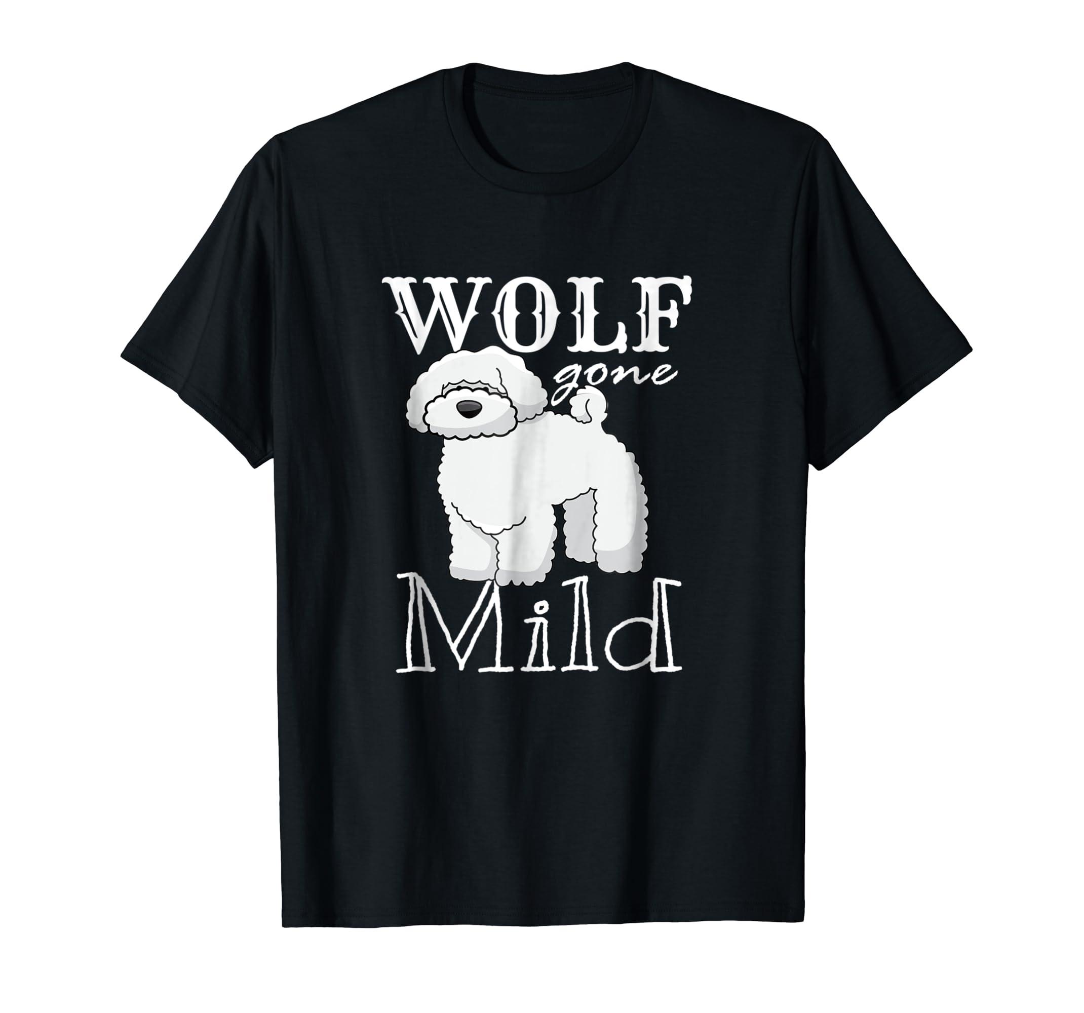 Poodle Dog Bichon Puppy Wolf T-Shirt Cartoon-Men's T-Shirt-Black