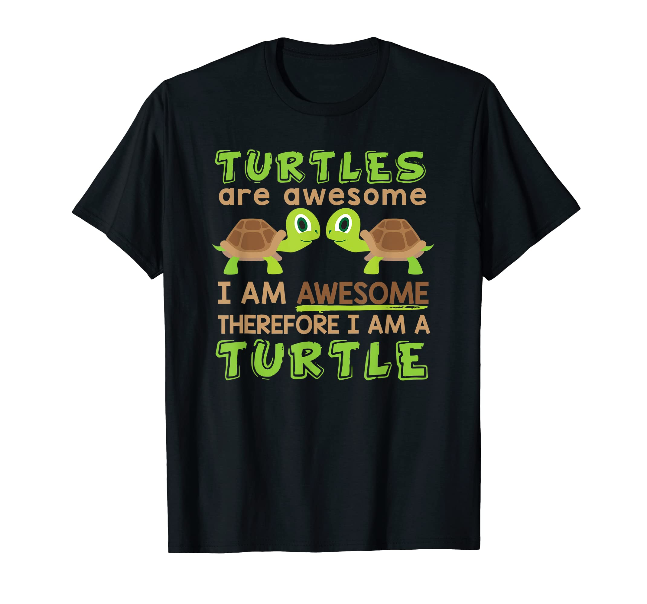 Turtles Are Awesome I Am a Turtle Tshirt-sea turtle hawaiian-Men's T-Shirt-Black