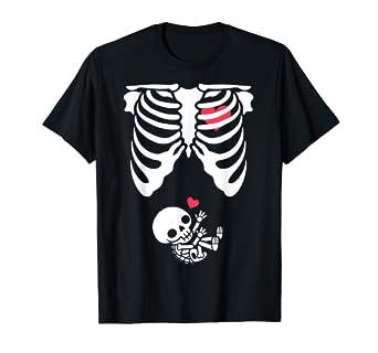 2223b869501d3 Amazon.com: Baby Skeleton Pregnancy T-Shirt - Halloween: Clothing