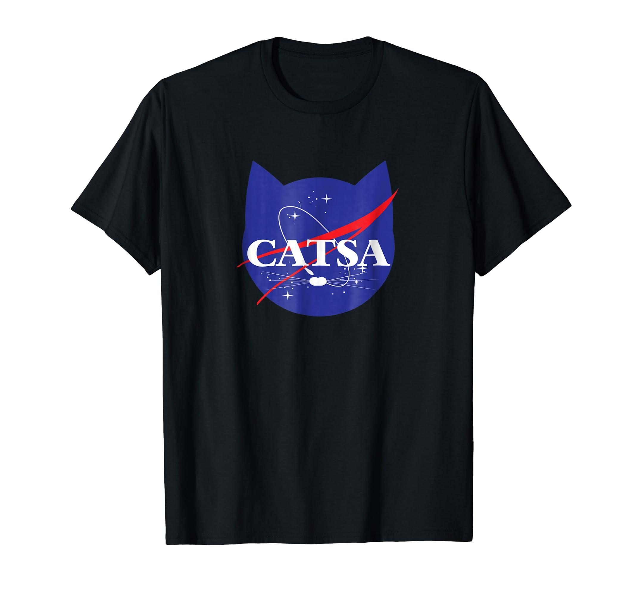 CATSA Cat Universe Space T-shirt-Men's T-Shirt-Black