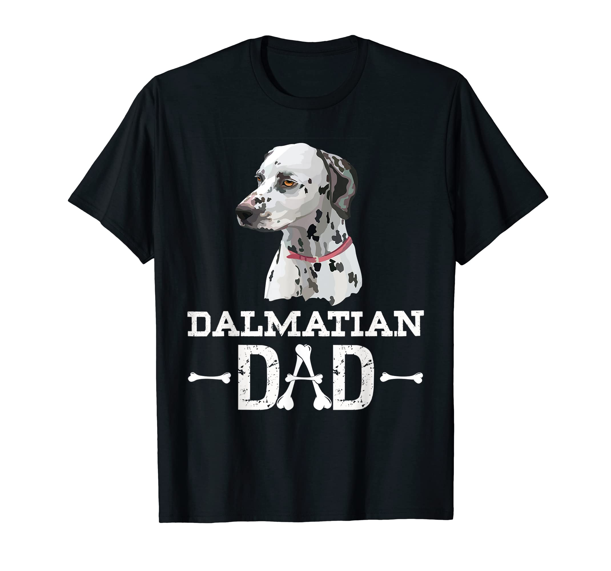 Dalmatian Dad T-Shirt Dog Lover Father's Day Gift-Men's T-Shirt-Black
